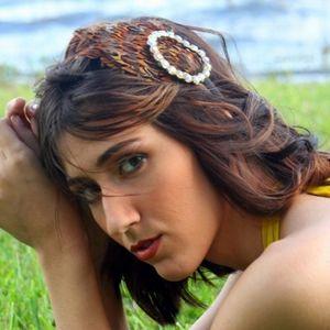 Handmade feather and jewel headband